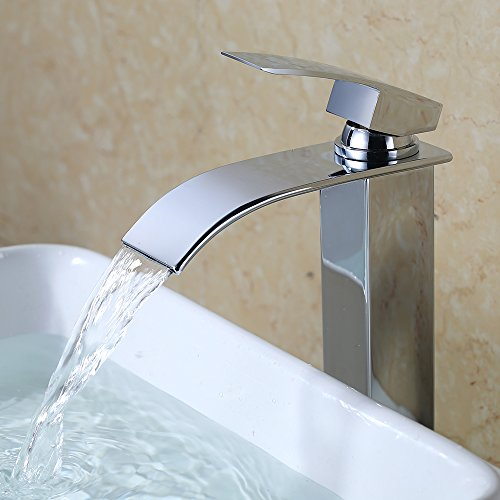 Homelody chorm wasserhahn wasserfall armatur waschbecken for Armatur aufsatzwaschbecken