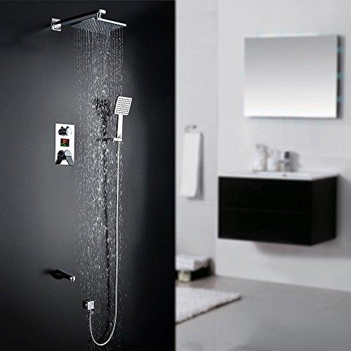 homelody unterputz duschsystem mit lcd wassertemperatur