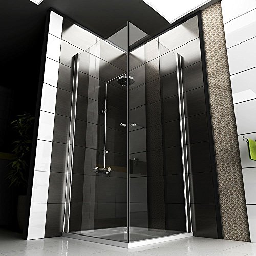 komplett duschkabine 90x90x195 eckeinstieg echtglas dusche duschabtrennung badezimmer. Black Bedroom Furniture Sets. Home Design Ideas