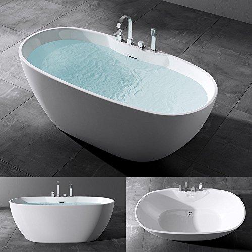 Freistehende Badewanne Acryl Wanne Standbadewanne Mit Armatur 170x80x60 Cm V605 Mai Mai Online Kaufen