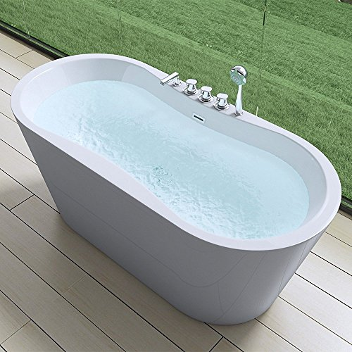 Freistehende Badewanne 170x80cm Sanitaracryl Mit Armatur Standbadewanne V602sma Mai Mai Online Kaufen