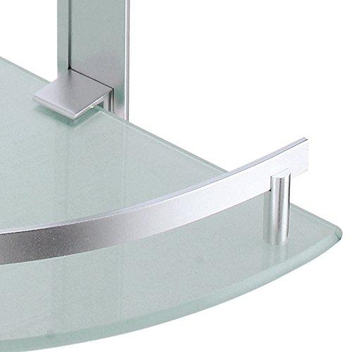msv tabarca rinc n mensola 2 ebenen aus aluminium und glas. Black Bedroom Furniture Sets. Home Design Ideas