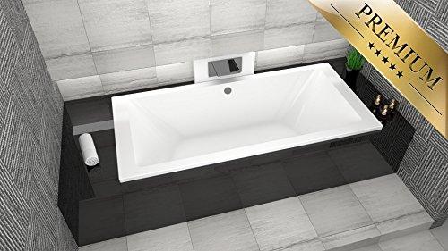 Premium rechteck badewanne acryl borneo 190x90 cm f en for Sechseck badewanne 190x90