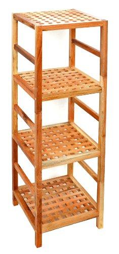 regal standregal hochregal 117 cm aus walnuss massivholz. Black Bedroom Furniture Sets. Home Design Ideas