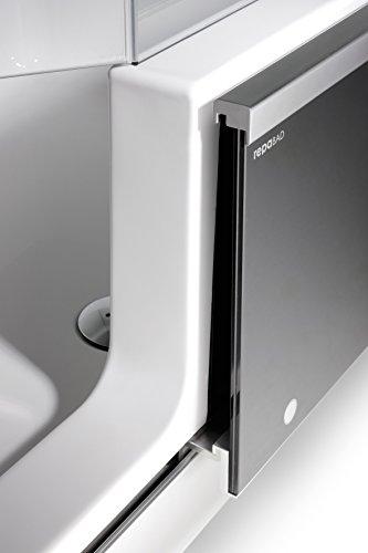 repabad easy in badewanne mit t r und dusche 170 cm ausf hrung rechts ecke rechts front glas. Black Bedroom Furniture Sets. Home Design Ideas