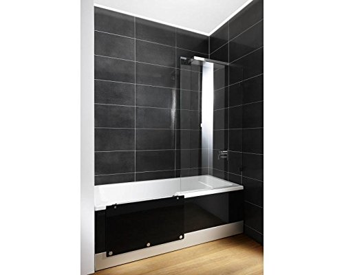repabad easy in m badewanne mit t r und dusche 170 cm weiss nische links front glas snow mit. Black Bedroom Furniture Sets. Home Design Ideas