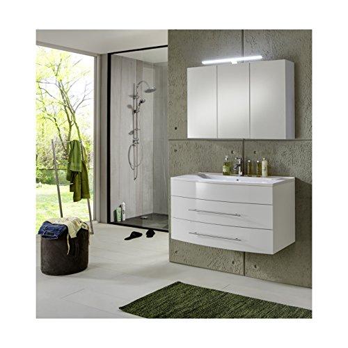 SAM® Design Badmöbel Set Basel in weiß 2 teilig Beckenauswahl ...