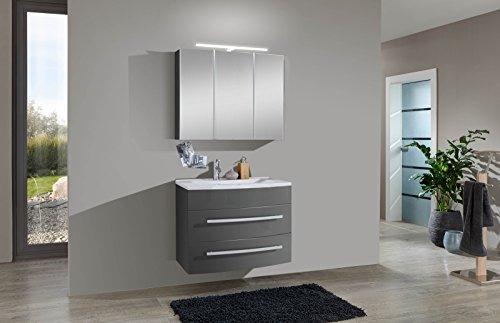 SAM® Design Badmöbel-Set Genf 2tlg, in grau, 80 cm Breite ...