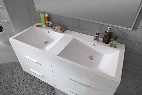 SAM® Design Badmöbel-Set Hannover 2 teilig, hochglanz grau, 120 cm ...