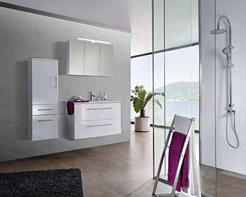 Sam Design Badmobel Set Verena 90 Cm In Hochglanz Weiss 3tlg