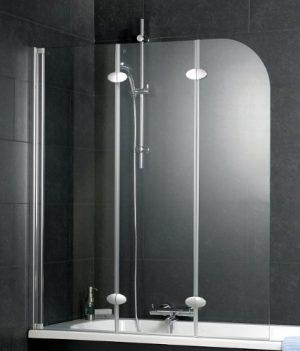 Badewannenaufsatz | Duschbadewannenaufsatz | 3-teiliges Badewannenaufsatz | Echtglas Badewannenaufsatz für Dusche
