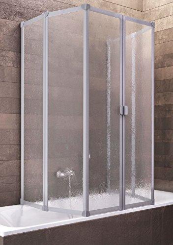 Schulte Duschabtrennung Badewanne Kunstglas 2x3 teilig 2 x 140x104 cm  München, 1 Stück