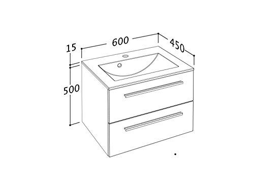 sieper libato waschtischunterschrank leuchtspiegel 60. Black Bedroom Furniture Sets. Home Design Ideas