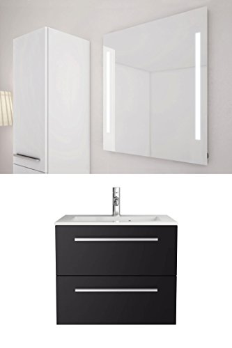 sieper libato waschtischunterschrank leuchtspiegel 60. Black Bedroom Furniture Sets. Home Design Ideas