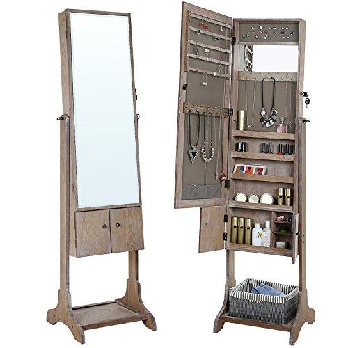 Schmuckschrank |Bad Accessoires | Badmöbel Schmuck & Spiegelschrank | stehender badmöbel