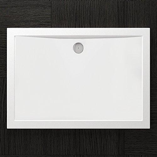 sogood duschtasse duschwanne faro2w 100x120x4 flach inkl ablaufgarnitur aus acryl in wei