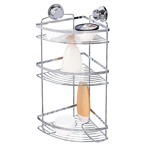 tatkraft vacuum screw hard gunter eckregal 3 etagen dusche badewanne rostfrei stahl verchromt 30. Black Bedroom Furniture Sets. Home Design Ideas