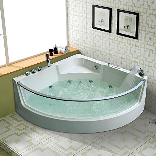 tronitechnik luxus whirlpool badewanne wanne jacuzzi eckwhirlpool spa 2 personen eckwanne. Black Bedroom Furniture Sets. Home Design Ideas