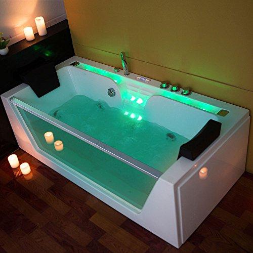 tronitechnik luxus whirlpool kos 2 badewanne wanne jacuzzi 2 personen rechteckig mit bachlauf. Black Bedroom Furniture Sets. Home Design Ideas