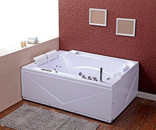 Wasserverbrauch Badewanne verona 680 whirlpool luxus zwei person moderne badewanne total 33