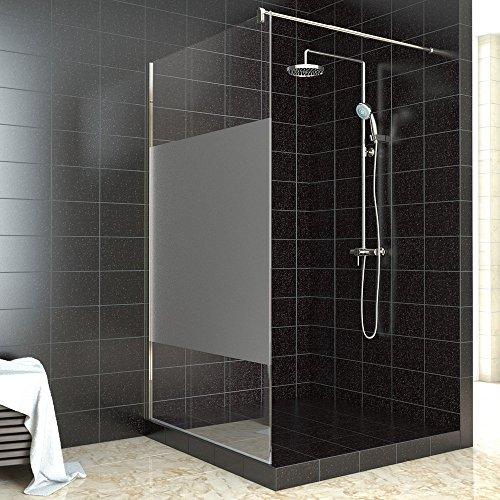 walk in dusche duschabtrennung duschwand teilsatiniert 100 140x200cm. Black Bedroom Furniture Sets. Home Design Ideas