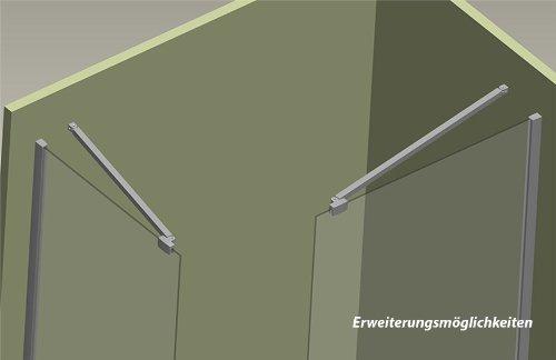 Walk in duschtrennwand 10mm esg glas 30 140 cm - Schwenkbare duschwand ...