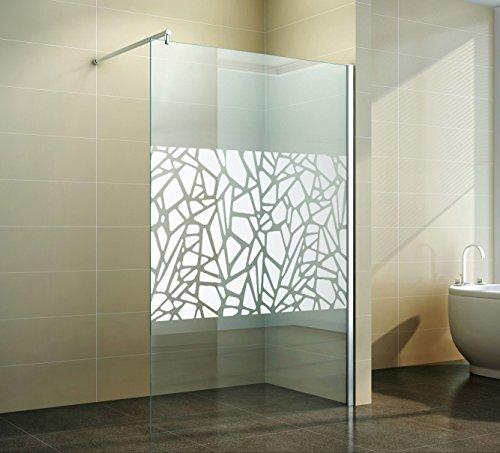 Walk in Duschabtrennung | Scherben-Design | Spiegel | Duschwand ...