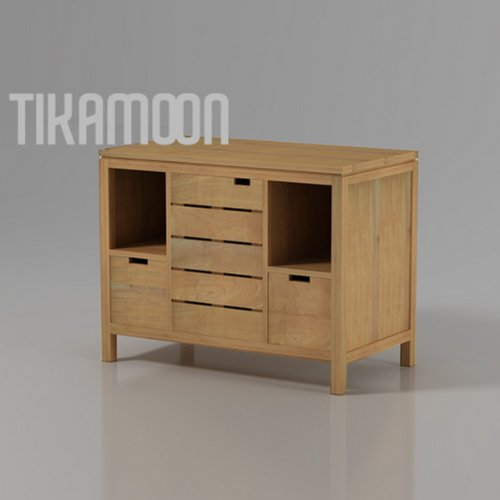 Badezimmermöbel Holz: Waschtisch Waschbeckenschrank Badezimmer Unterschrank