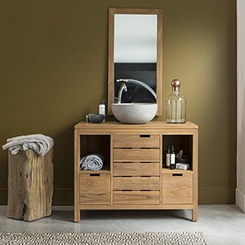 Waschtisch Waschbeckenschrank Badezimmer Unterschrank massiv Holz ...