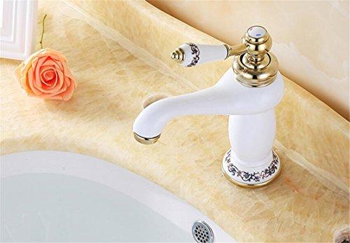 Weiß Wasserhahn Antik Messing Retro Wasserhahn Bad Nostalgie ...