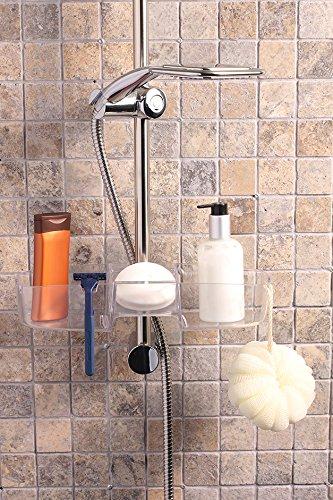 Wohnideen Shop wohnideenshop duschkorb in weiß zum anschrauben an die duschstange