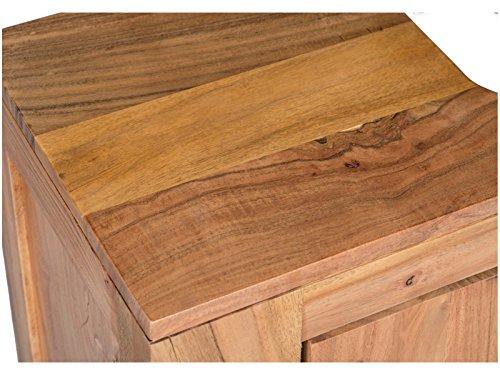 Woodkings waschbeckenunterschrank auckland echtholz for Badschrank massivholz