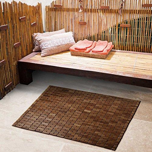 casa pura bambusmatte mia badematte saunamatte aus bambus 60x90cm zwei farben. Black Bedroom Furniture Sets. Home Design Ideas