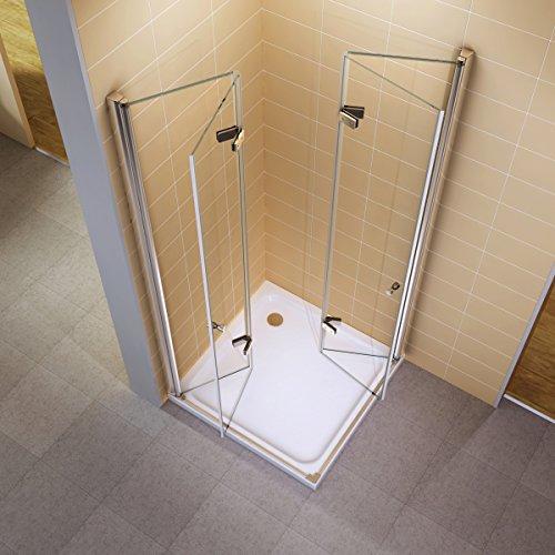 faltbare Duschkabine | Dusche mit faltbaren Türen |