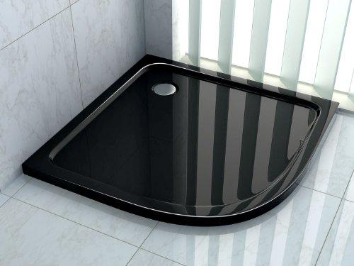 90x90 viertelkreis duschtasse duschwanne extra flach 50 mm. Black Bedroom Furniture Sets. Home Design Ideas