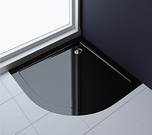 90x90x4 cm design duschtasse faro3b in schwarz duschwanne acrylwanne. Black Bedroom Furniture Sets. Home Design Ideas