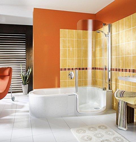 2-in 1 Badewanne und Dusche | Badewanne mit Dusche