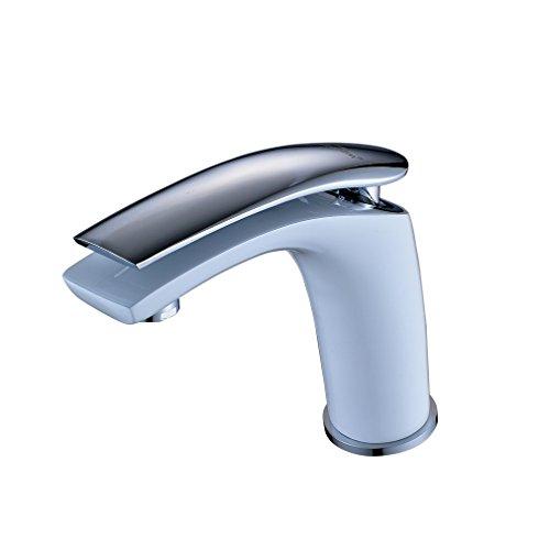 auralum design wei bad wc waschtischarmatur wasserhahn waschbecken waschtisch mischbatterie. Black Bedroom Furniture Sets. Home Design Ideas
