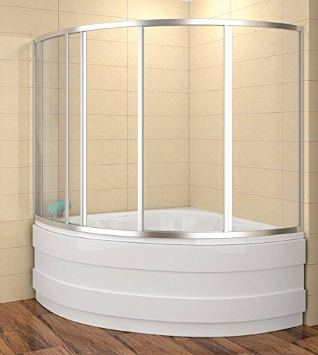 Badewannenaufsatz 140x140 cm | Duschbadewannenaufsatz | Duschabtrennung