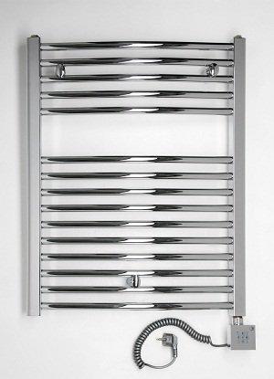 anapont Badheizkörper, elektrisch, Elektro 775h x 500b Chrom/gebogen,  hochwertig, Raumheizkörper, Handtuchhalter