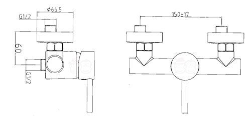 brausemischer chrom einhebelmischer dusche eco brause. Black Bedroom Furniture Sets. Home Design Ideas