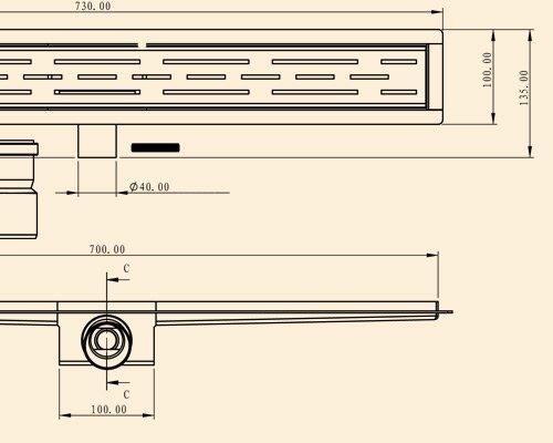 duschablaufrinne bodenablauf flach aus edelstahl extra. Black Bedroom Furniture Sets. Home Design Ideas