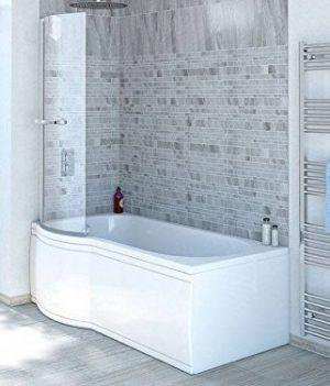 Badewannenaufsatz | Duschbadewanne 170x85 cm | Badewanne mit Duschaufsatz