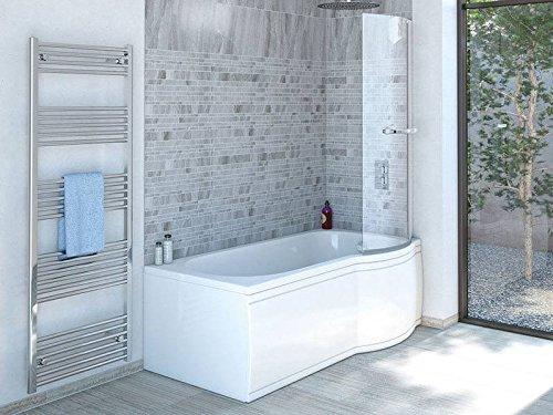 Duschbadewanne 170x85 cm R mit Badewannenaufsatz - Badewanne mit ...