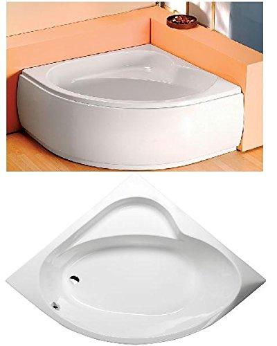 eckbadewanne sirius 130x130cm 43cm tief mit sch rze ablaufgarnitur und wannenf en. Black Bedroom Furniture Sets. Home Design Ideas
