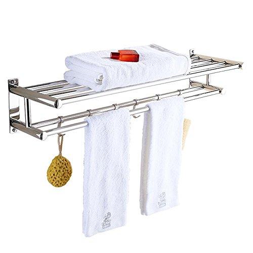 Guansijie Badezimmer Regal Handtuchhalter Punch Edelstahl Badezimmer
