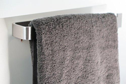 Galeara handtuchstange fur schrank 34cm edelstahl handtuchhalter links oder rechts - Handtuchhalter fur duschwand ...