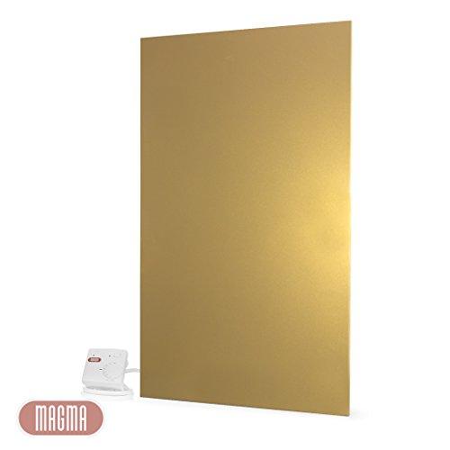 magma metallic infrarotheizung 800 watt gold 25 jahre hersteller von elektroheizungen. Black Bedroom Furniture Sets. Home Design Ideas