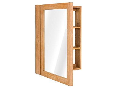 Spiegelschrank Holz natur  , Spiegelschrank 14x60x80 cm