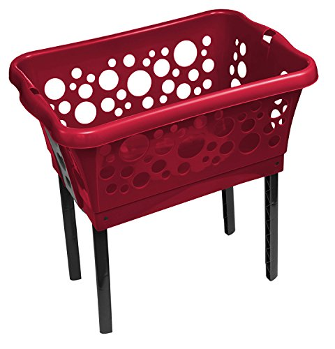 Wäschekorb rot | Badzubehör rot | Wäschekorb klappbar